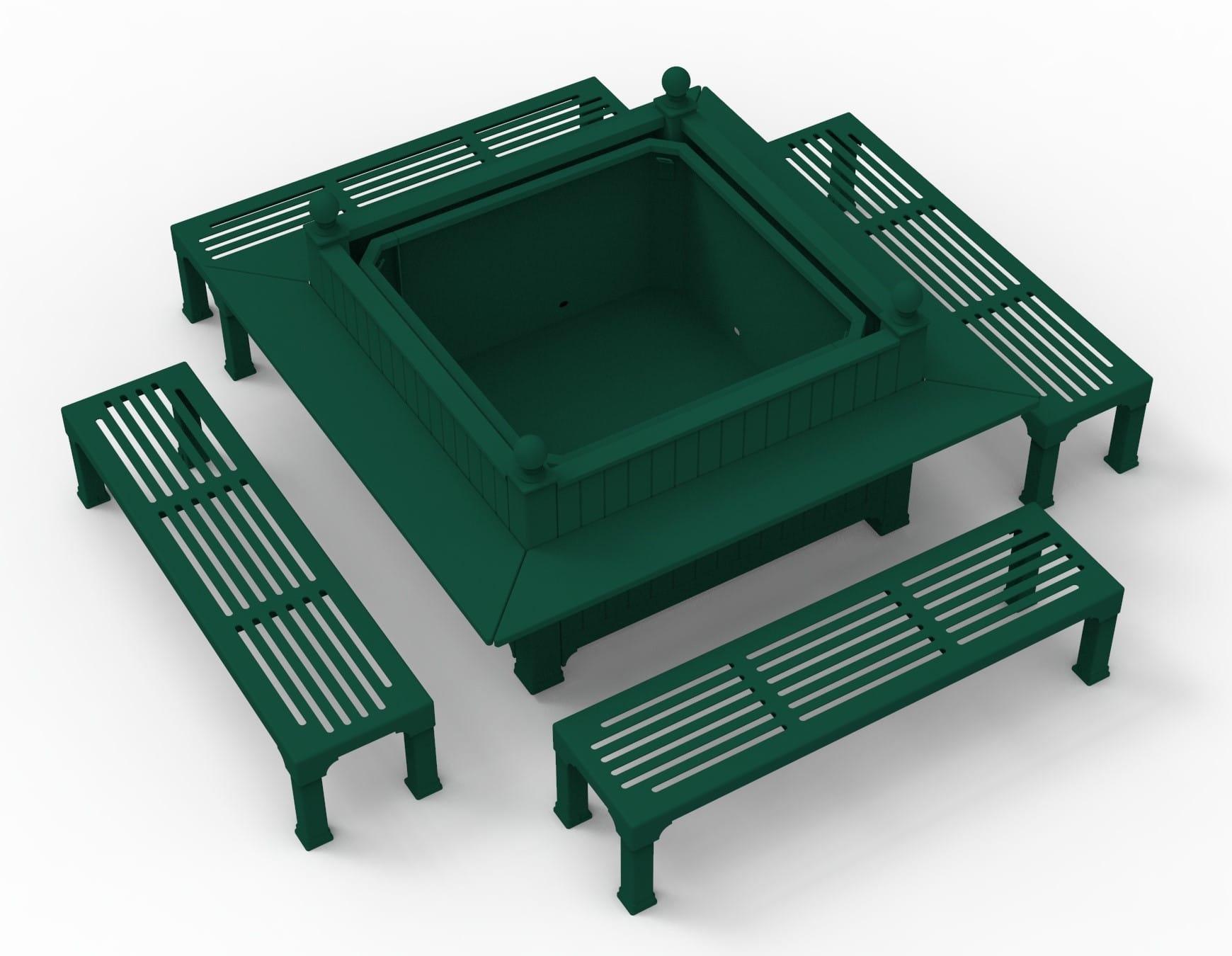 Caisse 1600x1600x1300mm avec assises et tablettes - Vue de 34 bis
